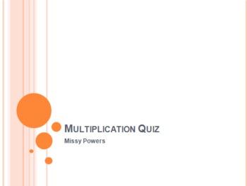 Multiplication Test Prep 5th Grade
