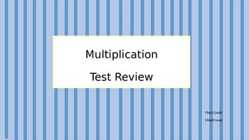Multiplication Test Review