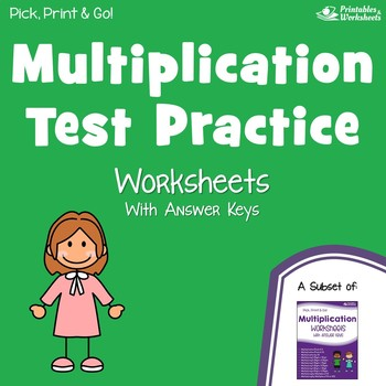 Multiplication Test Worksheets, Multiplication Quizzes