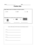 Multiplication Test and Practice Test