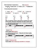Multiplication Test/Assessment