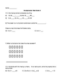 Multiplication Test/Quiz
