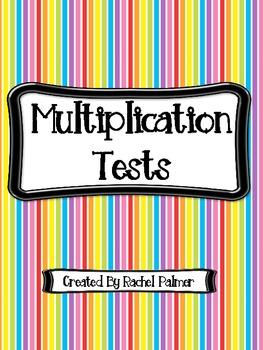 Multiplication Tests (2 - 10)