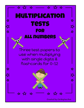 Multiplication Tests & Flashcards