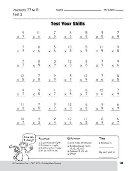Multiplication Tests, Grades 4-6+