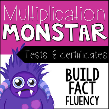 Multiplication Tests for Fact Fluency