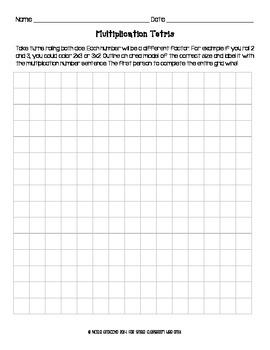 Multiplication Tetris
