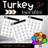 Multiplication Thanksgiving Fun