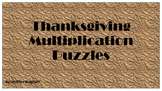 Multiplication Thanksgiving Puzzels