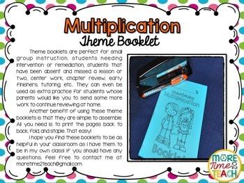 Multiplication Theme Booklet {Mastering Multiplication}