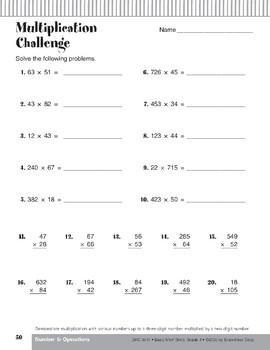 Multiplication: Three-Digit Numbers by Two-Digit Numbers