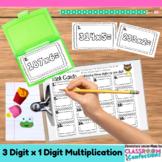4th Grade Math: Three Digit Multiplication Task Cards: Mat