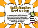 Multiplication Three in a Row-Halloween-2 Digit by 2 Digit