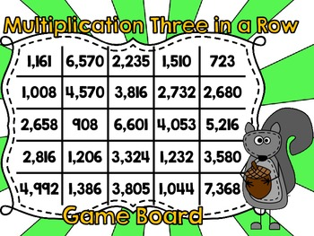 Multiplication Three in a Row-Three Digits by One Digit