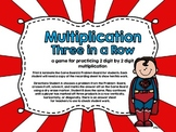 Multiplication Three in a Row-Two Digits by Two Digits