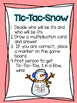 Multiplication Tic Tac Snow:  Multiplication Fact Fluency Game
