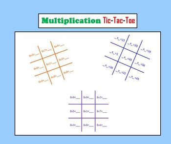 Multiplication Tic-Tac-Toe