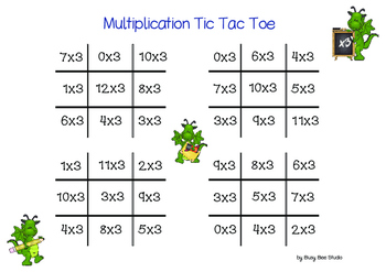 Multiplication Game: Tic Tac Toe