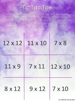 Multiplication Tic Tac Toe