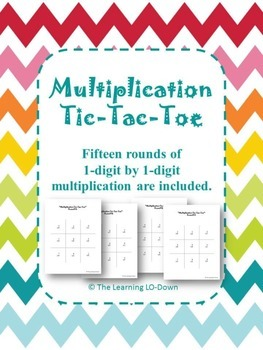 Multiplication Tic Tac Toe: Basic Facts