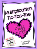 Multiplication Tic Tac Toe:  Multiplication Fact Fluency Game