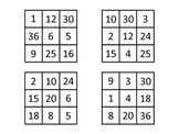 Multiplication Tic Tac Toe Dice Game