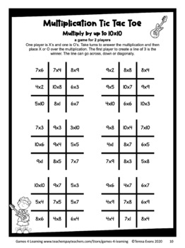 photograph about Multiplication Game Printable identify Tic Tac Toe Multiplication Free of charge Multiplication Online games for Truth of the matter Fluency Train