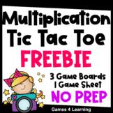 Free Printable & Digital Tic Tac Toe Multiplication Games for Math Fact Fluency