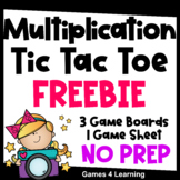 Multiplication Free: Multiplication Facts Tic Tac Toe Mult