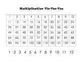Multiplication Tic-Tac-Toe Game
