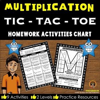 Multiplication Homework Activity Chart