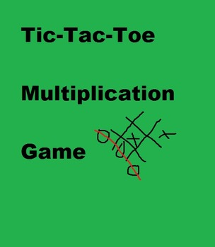 Multiplication Tic-Tac-Toe Math Game