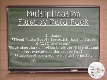 Multiplication Fact Fluency Data Pack (3.OA.7)