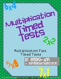 Multiplication Timed Fact Tests
