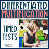 Multiplication Timed Test 0-12 facts Differentiated