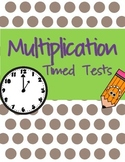Multiplication Timed Test