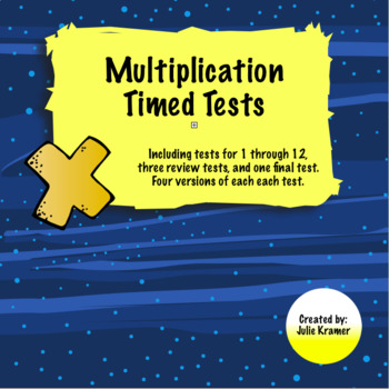 Multiplication Timed Tests 1-12