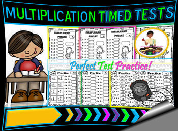 Multiplication Tests Timed | Zeros through Twelves (Mixed)