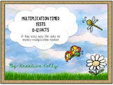 Multiplication Fact Fluency Builder: Tests & Flash Cards (0-12 Facts)