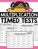Multiplication Timed Tests Facts 0-12