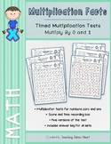 Multiplication Timed Tests: Multiply by 0 and 1
