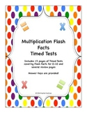 Multiplication Timed Tests Pack