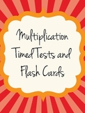 Multiplication Timed Tests and Flashcards