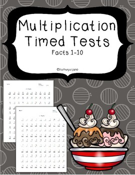 Multiplication Timed Tests with Facts 1-10