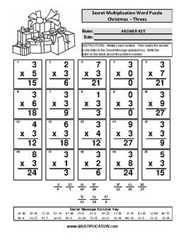 Multiplication Times 3 worksheet