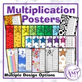 Multiplication/Times Table Posters - Rainbow Chevron