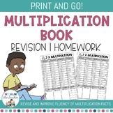 EDITABLE Multiplication Times Tables Book - Homework, Revision