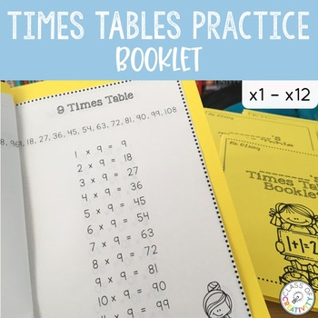 Multiplication Times Tables Booklet