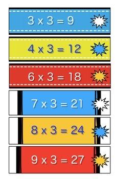 Multiplication Times Tables Bracelets
