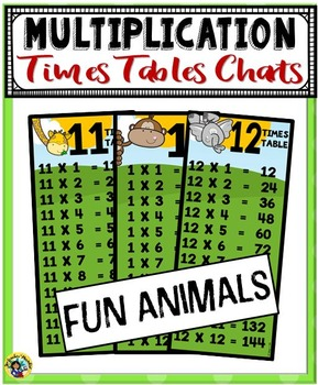 Multiplication Times Tables Charts ~ Fun Animals
